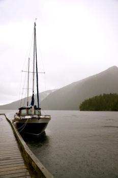 sv Mystic Knot at Baranof Bay Dock © Nicole Geils